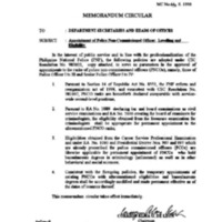 CSC MC 44, s. 1998: Appointment of Police Non-Commissioned Officer; Levelling and Eligibility