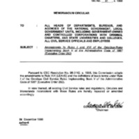 CSC MC 41, s. 1998: Amendments to Rules I and XVI of the Omnibus Rules Implementing Book V of the Administrative Code of 1987 (Executive Order 292)