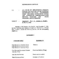 CSC MC 30, s. 1996: Amendment No. 1 to Annexes A, B and C of MC 11, s. 1996
